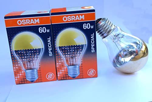 Osram Glühlampe, Spezial Kopfspiegellampe in gold, E27-Sockel, 60 Watt