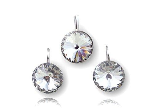Crystals & Stones *Crystal* *RIVOLI* Elegant Damen Schmuckset mit Kristallen von Swarovski Elements - Wunderbare Ohrringe mit Geschenkbox