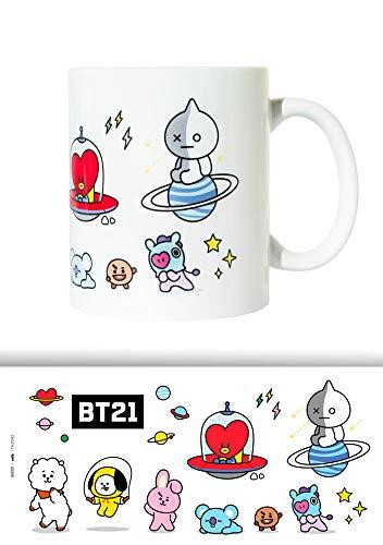 Erik BT21 Tasse - Kaffeebecher Tasse Kaffee und Tee - Offizielles BT21 Merchandising