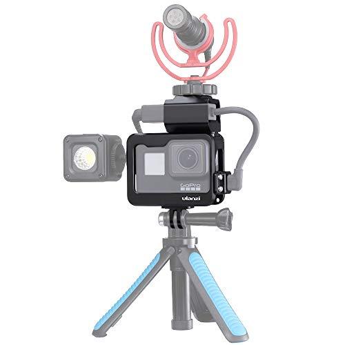 Yiwa V3 Pro Metal Vlog Cage Case voor GoPro 7 met adapter microfoonclip voor microfoon
