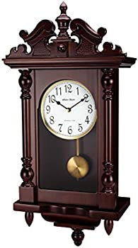 Olden Days Wall Clock with Real Wood 4 Chime Options Swinging Pendulum Antique Vintage Design 22  Large