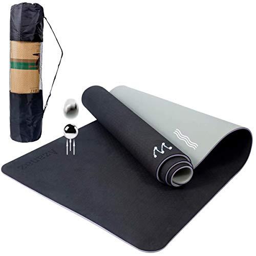Yoga Matte, Azanaz, Das neueste dreischichtige Design Joga Matten, 6mm Dicke Yogamatte Rutschfest Schadstofffrei Einfach zu säubern Kein Geruch, High Density TPE Yoga Mat, Reißfest Fitness Matte