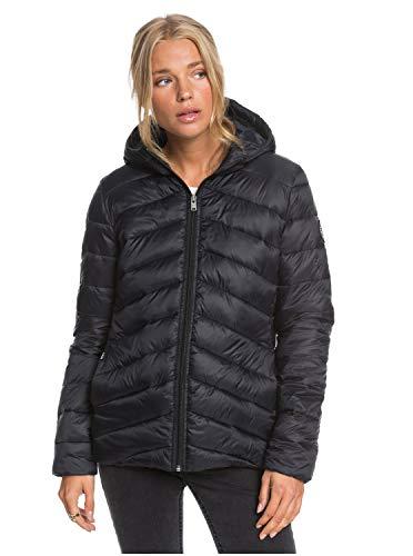 Roxy Damen Wasserabweisende, Leichte, Verpackbare Wattierte Jacke Coast Road - Wasserabweisende, leichte, verpackbare wattierte Jacke für Frauen, anthracite, L, ERJJK03388