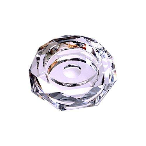 NYDZDM - Cenicero de cristal para exteriores y exteriores, diseño vintage decorativo para el hogar, oficina, mesa, bonito diseño (color: plata, tamaño: 18 cm)