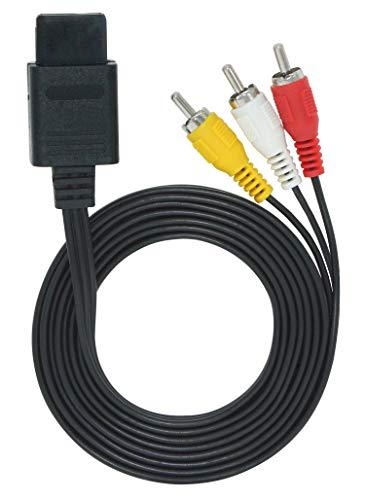 OSTENT AV Audio Vidéo A / V Composite Télévision Câble Compatible pour Nintendo 64 N64 GameCube NGC Super Nintendo SNES SFC