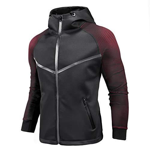 Bomber Jacket Men's Casual Cardigan Jacket Personality Coat Racing...