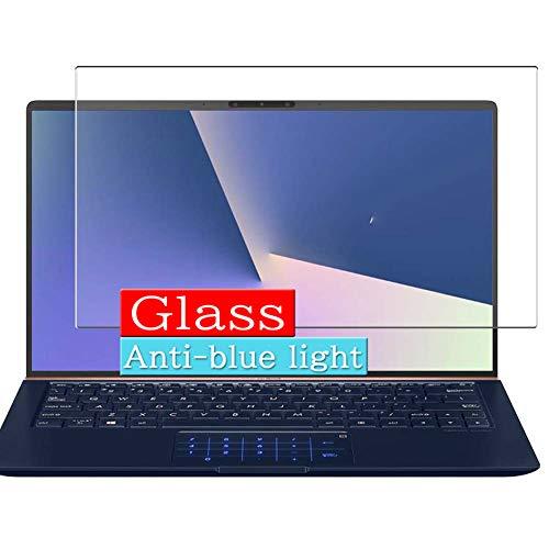 VacFun Filtro Luz Azul Vidrio Templado Protector de Pantalla para ASUS ZenBook 13 UX333FA-A3146R 13.3' Visible Area, 9H Cristal Screen Protector Anti Blue Light Filter Película(Cobertura no Completa)