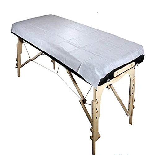 Einwegplatten 10 Stücke 180 * 80 cm Vlies Einweg Wasserdichte Bettlaken Massage Schönheit Abdeckung (Farbe : Weiß)