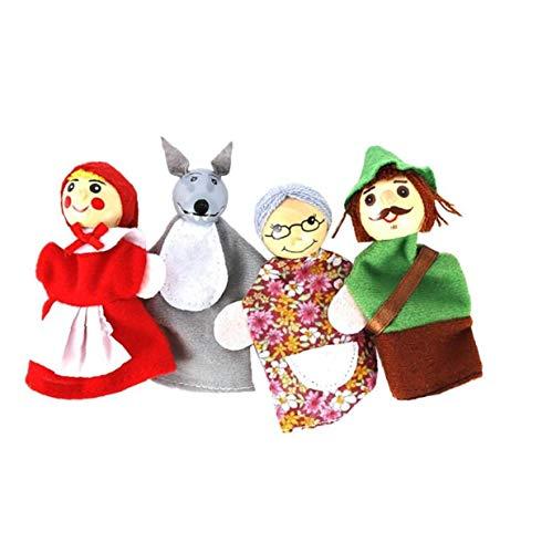 LAANCOO Riding Hood Fingerpuppe Tiere Conjunto, marionetas Finger Puppe Puppe Spielzeug Bildungs-Spielzeug Cartoon Märchenerzähler
