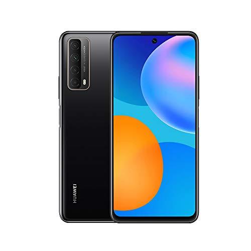 "HUAWEI P smart 2021 Smartphone, 22.5W HUAWEI SuperCharge, 5000mAh battery, 48 MP Quad AI Camera, 6.67"" FHD+ Display, 4 GB RAM, 128 GB ROM, HMS Device, Midnight Black"
