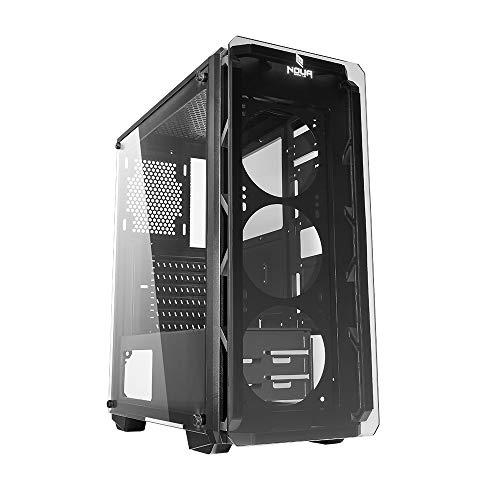 Noua Cool G8 Grey Case ATX per PC Gaming Frontale Tempered Glass 0.60MM SPCC 3*USB3.0/2.0 Pannelli Laterali in Vetro Temperato (AxPxL: 480x425x200 mm)