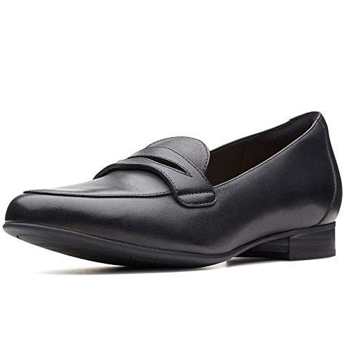 Clarks Damen Un Blush Go Slipper, Schwarz (Black Leather), 41 EU