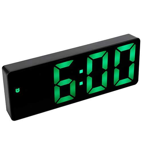 Ufolet Reloj Electrónico, Hermoso Reloj Despertador Digital, para Oficina, Hogar Multifuncional Duradero