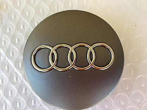 Dr Dry Set of 4 pcs 60mm Wheel Center Caps Hubcaps for Audi Silver