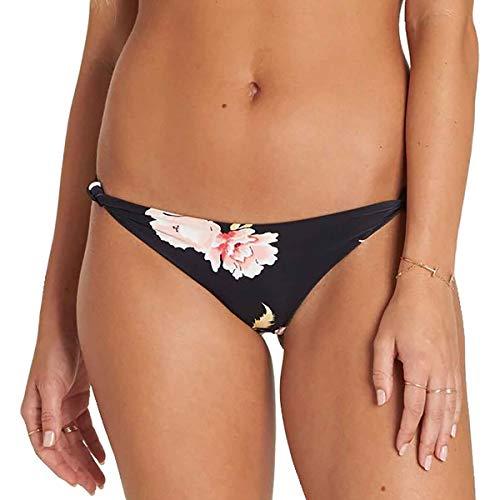 Billabong Women's Floral Dawn Isla Bikini Bottom Black Pebble Large