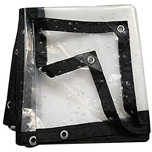 QIAOH Lonas Impermeables Exterior 6x1m, Toldo Transparente, Lona Transparente con Ojales, Impermeable a Prueba De Lluvia Toldo De Aislamiento Cubierta De Plástico