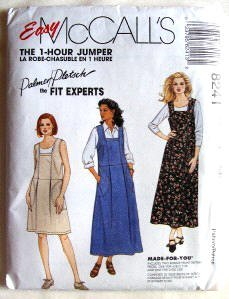 McCall s Sewing Pattern 8241 Misses  Dress or Jumper - 1 Hour Pattern SM  Size 8 10