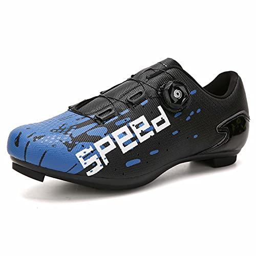 Cacagie Scarpe da Ciclismo Donna e Uomo Spin Ring SPD per Esercizi all'aperto e Interni,con Tacchetti Uomini e Donne compatibili Delta Look 36-47