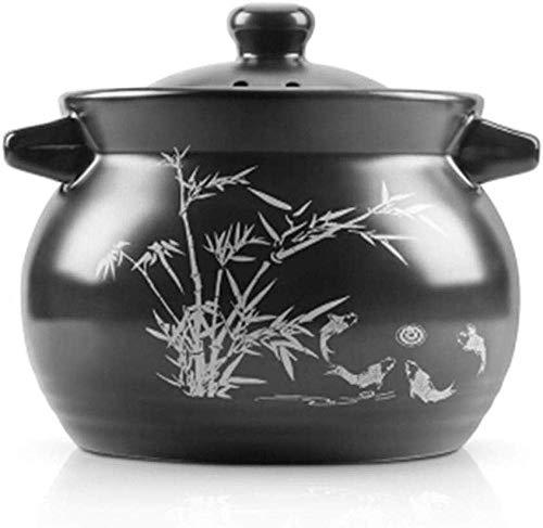 Casserole Argile Pot ragoût Terre Cuite Casserole céramique - Cuisson Haute température, Conduction Thermique Rapide, Chauffage Uniforme, Sain et Durable