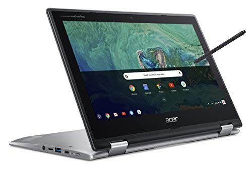 Acer Chromebook Spin 11 CP311-1HN - (Intel Celeron N3450, 4GB RAM, 32GB eMMC, 11.6 inch HD Touchscreen Display, Google Chrome OS, Silver)