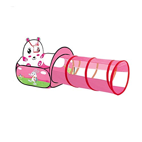 tents Pop Ball Pool With Pop-up Tunnel, Indoor Playground For Pink Girls - Cute Cartoon Bunny - Baby's Early Education Game Ball Pit(Size:157 * 73cm)
