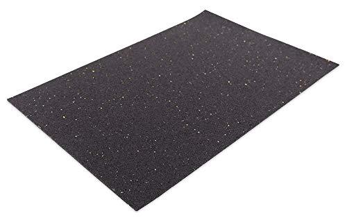 1a-TopStore Anti-Rutschmatten-Unterlage für Eurobehälter, 600x400 mm, 3mm Materialstärke, schwarz, aus Gummigranulat