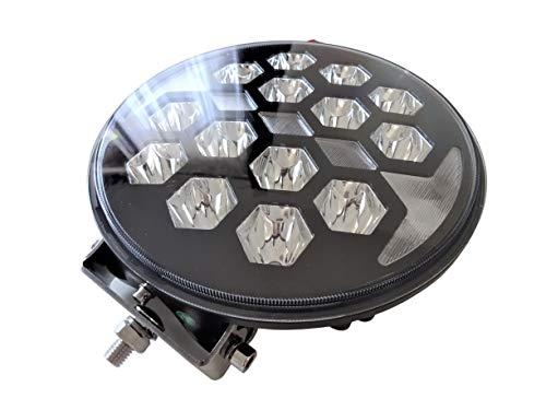Faro LED de larga distancia con luz de posición E9, redondo, 12 V, 24 V, diámetro de 220 mm, carcasa de metal