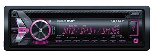 Sony MEX-N6001BD Autoradio con Lettore CD, Tuner DAB, NFC, Bluetooth, USB/AUX, Controlli Apple iPod/iPhone, Potenza 4x55 Watt, Inclusi Microfono Esterno e Antenna DAB, Nero