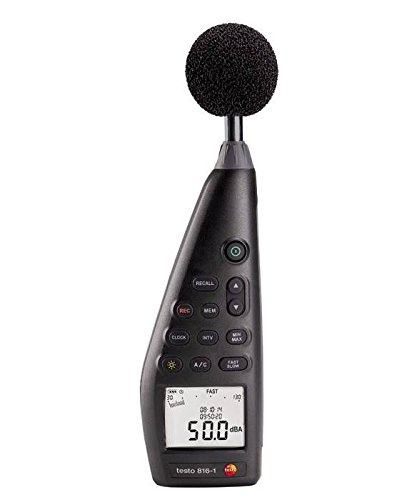 Testo 816-1 - Strumento di misurazione inquinamento acustico, modello 0563 8170, conforme alla nuova direttiva IEC 61672-1, classe 2