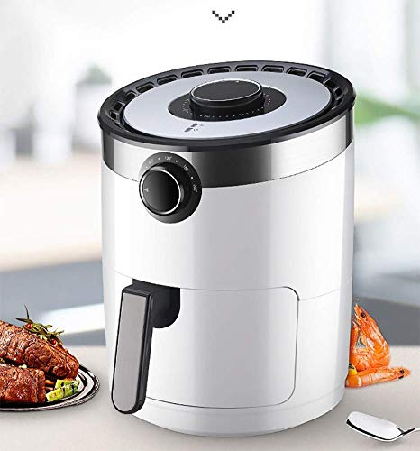 MLTYQ Air Fryer, 3.5 L Electric Hot Air Fryers Oven Oilless Cooker, Preheat & Knob Control, Nonstick Basket, with Anti-scalding Handle 1400W