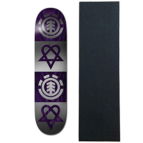 Element - Tavola da Skateboard Bam Heartagram Quad da 20,3 cm con...