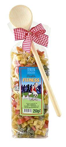 Pasta Präsent Fitness mit bunten Läufernudeln handgefertigt in deutscher Manufaktur