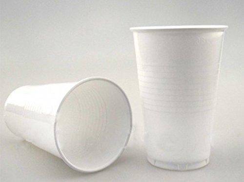 Einwegbecher 0,3ml Trinkbecher Plastikbecher Partybecher Weiß Einwegtrinkbecher Ausschankbecher Schaumrand Bierbecher Cocktailbecher, Wunsch:500 Stück