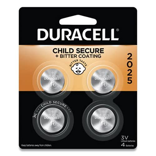 Duracell Keyless Entry Battery Dl2025 4 Pack