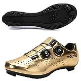 Koyike Zapatillas de Ciclismo Parte Superior Degradada con Hebilla Giratoria Calzado de Bicicleta de Montaña,Respirable Calzado de Bicicleta de Carretera,Unisexo para MTB BMX,F-44