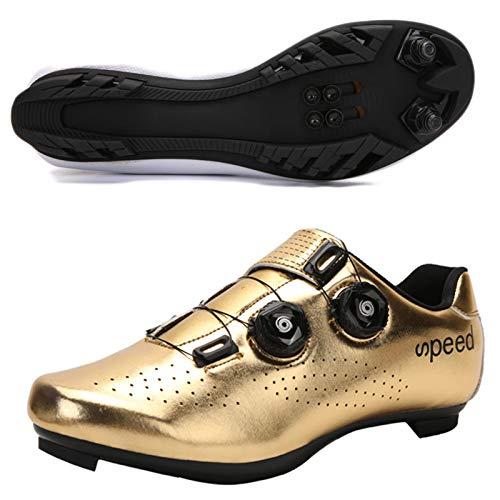 Koyike Zapatillas de Ciclismo Parte Superior Degradada con Hebilla Giratoria Calzado de...
