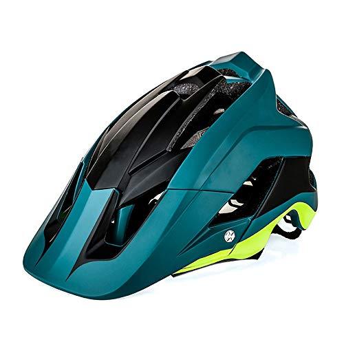 BeiQuan Adulto Casco de la Bici, Bicicleta de montaña Casco de MTB Ciclo de la Bicicleta Cascos, Ajustable Dial-Fit Integralmente Moldeo Ligera Cascos for Hombres y Mujeres (Color : Green)