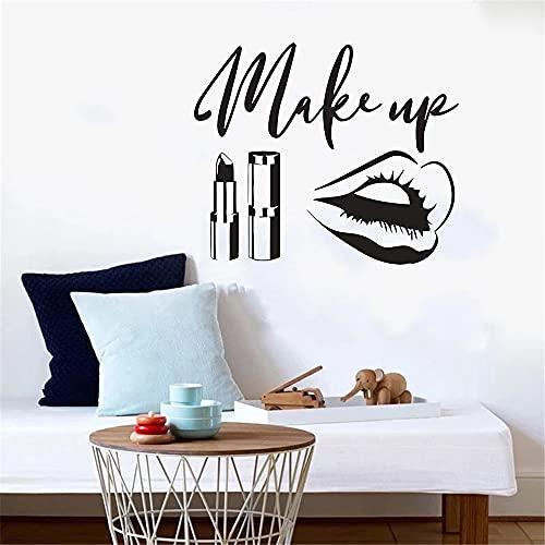 Zdklfm69 Pegatinas de Pared Adhesivos Pared Pared del Logotipo de la Belleza para los murales del Arte del Cuarto de niños Etiqueta engomada del Vinilo de la Ventana del Dormitorio Interior 77x66cm