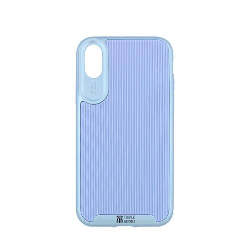Schutzhülle für Apple iPhone XS, X, 10, 14,8 cm (13,8 Zoll), 2-in-1-Hybrid, weiches TPU-Kunststoff, stoßfest, Silber