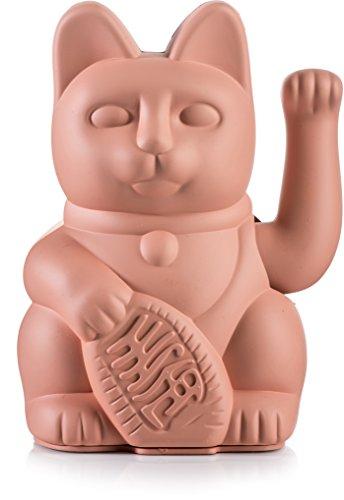 Donkey Products - Lucky Cat Pink - pinke Winkekatze   Japanische Deko-Katze in stylischem matt-Farbton 15cm hoch