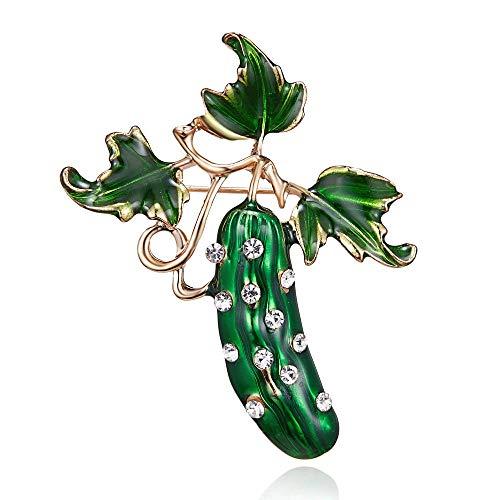 Joji Boutique: Bejeweled & Enameled Pickle Pin