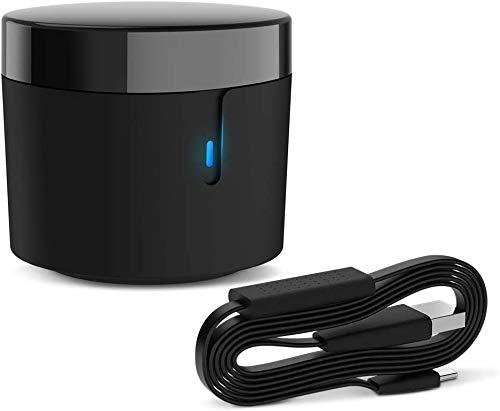 BroadLink RM4 mini S Controle remoto inteligente e conjunto de cabos de sensor, hub de controle remoto infravermelho universal com cabo USB Cabo USB de monitoramento de umidade e temperatura, funciona com Alexa, Google Home, IFTTT…