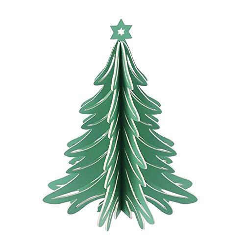 RUIXFFT Cartón árbol de Navidad, Hecha a Mano de la decoración de Mesa de Manualidades for la Chimenea de la Chimenea/Librero/Sobremesa/gabinete/travesaño de la Ventana