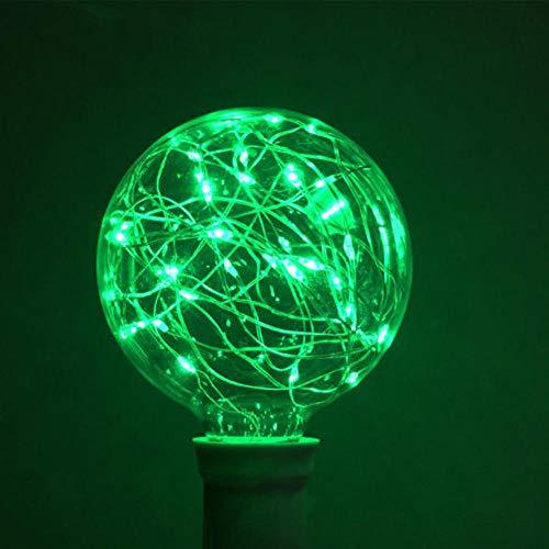 Bombilla LED de Navidad de Halloween Bombilla LED de colores Bombilla E27 Starry Fairy String Lámpara de fiesta de Navidad Bombilla Decoración del hogar Decoración de la boda Luz verde China