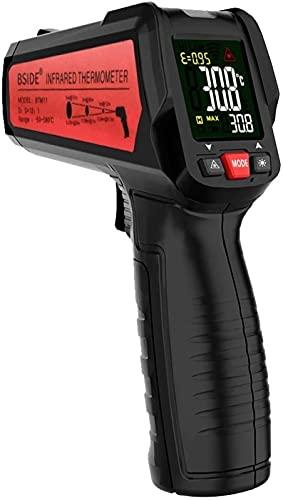 Termómetro infrarrojo, sonda de temperatura del láser infrarroja de la cámara, termómetro sin contacto -50  -580 , para cocinar, industrial automotriz herramienta