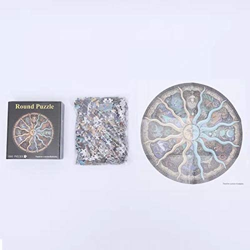 1000PCS Round Moon Surface Jigsaw Puzzle Earth Challenge Level Earth Jigsaw Puzzle for Adults or Teenagers Great for Development of Patience and Fine Motor Skill as A Birthday