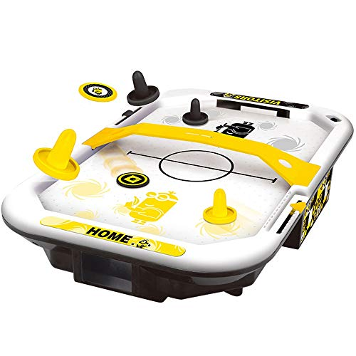 EDED Electric Air Powered Hockey, Foosball Table Indoor Sports Gaming Set with Equipment Accessories 2 Paddles, 2 Pucks