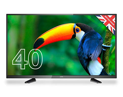 Cello ZBVD0204 40' inch Full HD LED TV and Freeview HD Made in the UK (New 2020 Model),Black