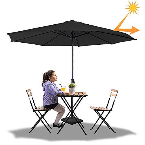 Froadp Ø3.5m Sonnenschirme Achteckiger Strandschirm aus Polyester Sonnenschutz Gartenschirm mit Ø38mm Regenschirmgriff Gartenschirm für Balkon Terrasse Schwimmbad Patio(Dunkelgrau)
