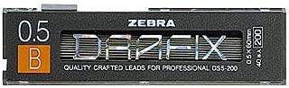 Zebra Mechanical Pencil Lead Drafix, B, 0.5mm 40leads, DS5-200-B